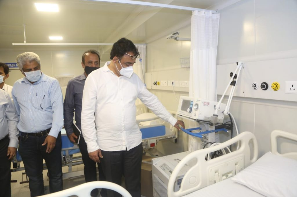 Inspection of ICU in KC General Hospital